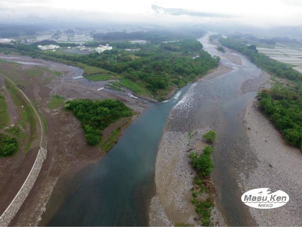 大谷川の鬼怒川合流付近
