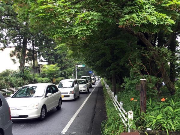 IMG_0852東武日光駅前付近渋滞